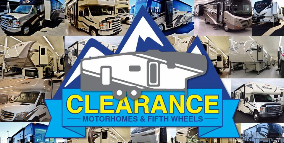 Clearance Motorhomes and Fifth Wheels