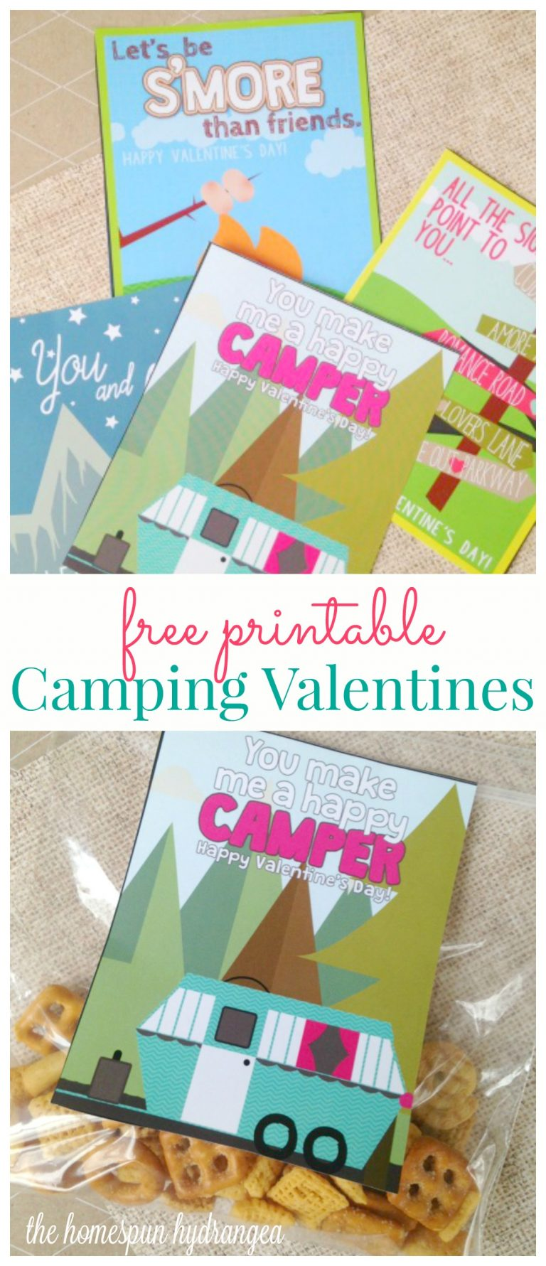 Vintage Camper Printable Valentine's Day Cards
